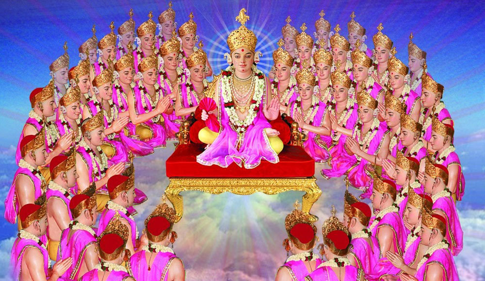 Lord Shree Swaminarayan presides upon Shree Swaminarayan Gadi