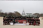 Shree Muktajeevan Swamibapa Pipe Band Performs at Paris