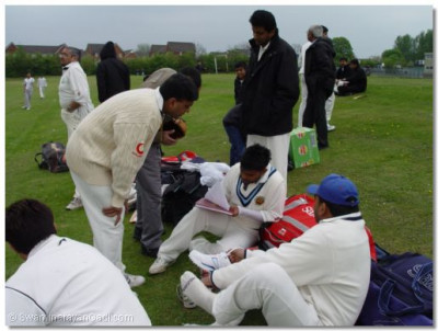 Bolton B Team discuss player batting order