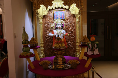 Divine darshan of Shree Hanumanji and the annakut