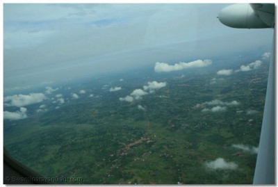 Aerial view of greenery in Uganda