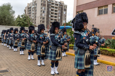 Muktajeevan Swamibapa Pipe Band participate in the Shahi Swagat