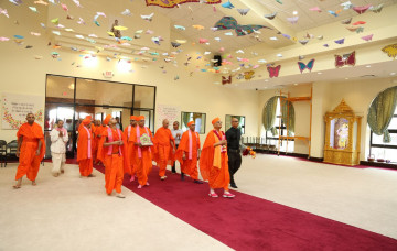 Acharya Swamishree Arrives US