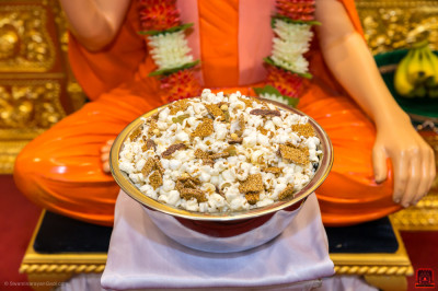 Pop corn with a variety of delicious sweets is the traditional prasad