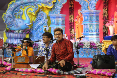 Disciples and talented musicians perform devotional songs as part of the evening devotional concert