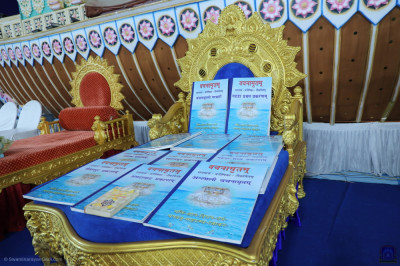 The divine Vachanamrut scriptures to be read during the grand festival