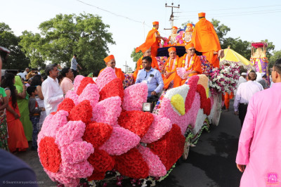 One of the floats taking part in the procession