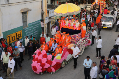 One of the many floats taking part in the grand procession