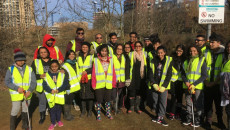 Mandir Community Rallies to Clean Up Local Wildlife Habitat