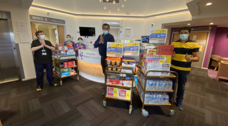 Donations Distribution to NHS heroes in Bolton