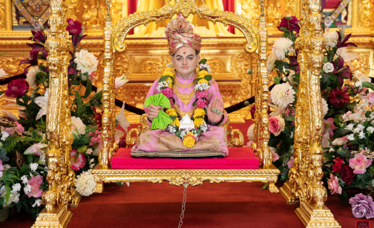 Shree Swaminarayan Mandir Kingsbury celebrates the 176th anniversary since the manifestation of Jeevanpran Shree Abji Bapahree