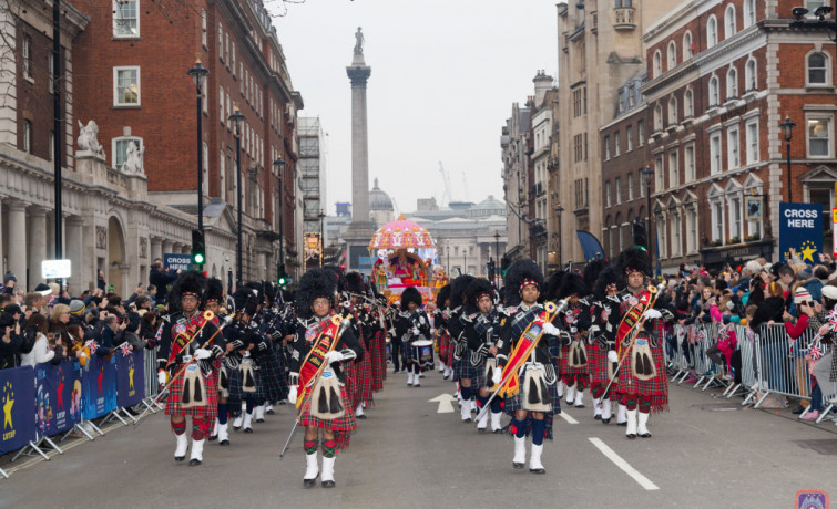 London and Bolton Pipe Bands perform at one of UK's most iconic events