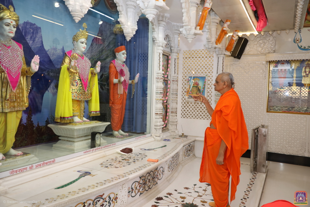 Acharya Swamishree Maharaj - Divine Darshan - Maha Vad 13 - Friday 21st February 2020